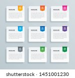 infographics tab paper index... | Shutterstock .eps vector #1451001230