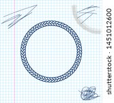 rope frame line sketch icon...