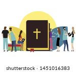 bible concept isolated on white ... | Shutterstock .eps vector #1451016383