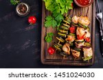 grilled meat skewers  chicken ... | Shutterstock . vector #1451024030