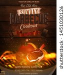 bbq party invitation with grill ...   Shutterstock .eps vector #1451030126