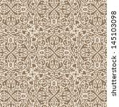 Vintage background vector. Old style Seamless floral pattern. Retro texture wallpaper. - stock vector