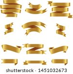 gold ribbon set inisolated... | Shutterstock .eps vector #1451032673