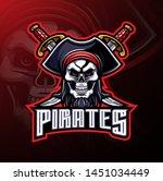 pirates mascot gaming logo... | Shutterstock .eps vector #1451034449