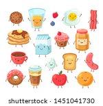breakfast food characters.... | Shutterstock .eps vector #1451041730