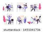 people unorganized. men fail... | Shutterstock .eps vector #1451041736