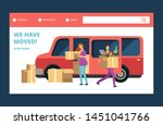 moving house vector web banner. ... | Shutterstock .eps vector #1451041766