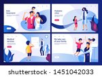 pediatric clinic concept. mom... | Shutterstock .eps vector #1451042033