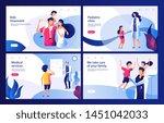 pediatric clinic concept. mom... | Shutterstock .eps vector #1451042033