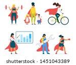 females in modern society... | Shutterstock .eps vector #1451043389