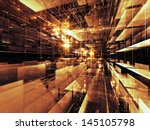 fractal city series. abstract... | Shutterstock . vector #145105798