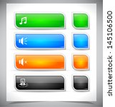 set of color plastic buttons...   Shutterstock .eps vector #145106500