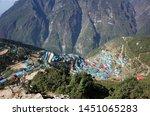 namche bazaar  nepal   may 12 ... | Shutterstock . vector #1451065283