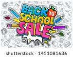 concept of education. sale... | Shutterstock .eps vector #1451081636