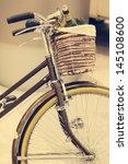 Vintage Brown Bicycle With...