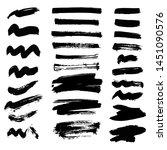 set of ink splashes blots... | Shutterstock . vector #1451090576