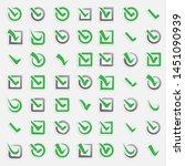 checkbox vote marks icons set....