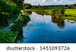 Beautiful view of Chichester Cathedral from Hunston Bridge, Selsey, West Sussex. The famous landscape artist JMW Turner painted this scene of the Chichester Canal.