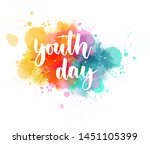 youth day    handwritten modern ... | Shutterstock .eps vector #1451105399
