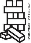 wooden block icon  wooden toy... | Shutterstock .eps vector #1451110460