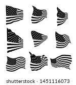 usa flag set eps vector... | Shutterstock .eps vector #1451116073