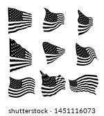 usa flag set eps vector... | Shutterstock .eps vector #1451116073