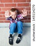 a pre teen boy is begging to... | Shutterstock . vector #145114270