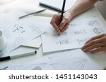 Animator designer draws...