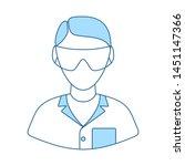 icon of chemist in eyewear....