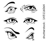 various illustrated human eyes | Shutterstock .eps vector #145116064