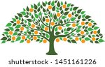 a abstract orange tree image | Shutterstock .eps vector #1451161226