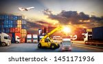 logistics and transportation of ... | Shutterstock . vector #1451171936
