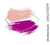 bright purple and nude brush...   Shutterstock .eps vector #1451173379
