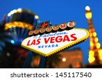 welcome to las vegas sign at... | Shutterstock . vector #145117540