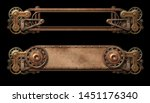 Steampunk Copper Banners With...