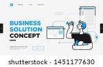 presentation slide template or... | Shutterstock .eps vector #1451177630