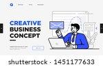 presentation slide template or... | Shutterstock .eps vector #1451177633