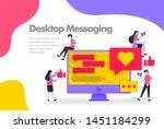 desktop messaging illustration...