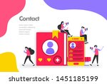 contact list illustration...