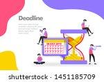 deadline illustration concept ...