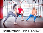 senior people workout with...   Shutterstock . vector #1451186369