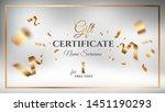 gift certificate vector design. ... | Shutterstock .eps vector #1451190293