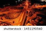 aerial drone slow shutter night ... | Shutterstock . vector #1451190560