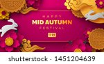 chinese mid autumn festival... | Shutterstock .eps vector #1451204639