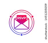 rsvp icon with envelope  vector   Shutterstock .eps vector #1451205059