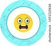 scared emoji icon in trendy... | Shutterstock .eps vector #1451210636