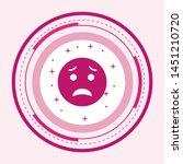 scared emoji icon in trendy... | Shutterstock .eps vector #1451210720