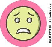 scared emoji icon in trendy... | Shutterstock .eps vector #1451211266