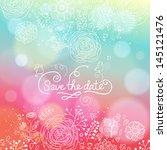 bright wedding invitation in... | Shutterstock .eps vector #145121476
