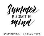 vector hand drawn summer... | Shutterstock .eps vector #1451227496